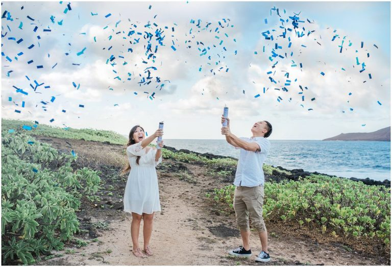 oahu gender reveal photography