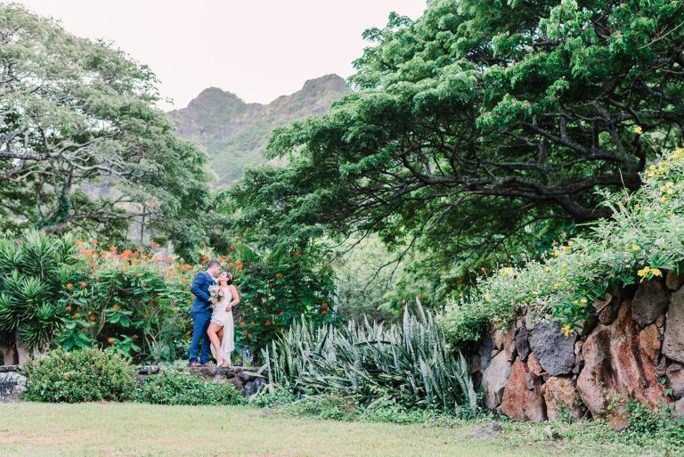 Paliku Gardens Wedding at Kualoa Ranch - Gisela and Chris