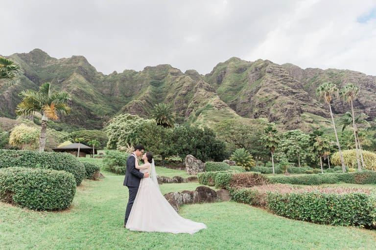Kualoa Ranch Wedding At Paliku Gardens Inki Ami